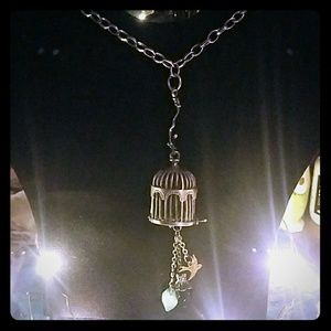 Last Day! Custom bird cage long necklace